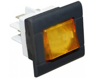 INTERRUTTORE BIPOLARE ARANCIO 25x27 MM. / YELLOW BIPOLAR SWITCH 16A 230V - 13825