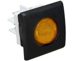 INTERRUTTORE BIPOLARE ARANCIO 25x27 MM. / YELLOW BIPOLAR SWITCH 16A 230V - 13827