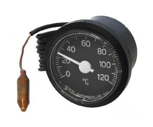 TERMOMETRO Ø 37 CASSA RESINA 0÷120°C. CM.100 - 3203