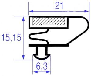 GUARNIZIONE MAGNETICA 515 x 455 MM.- 8098