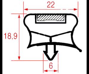 GUARNIZIONE MAGNETICA 410 x 185 MM. - 8153