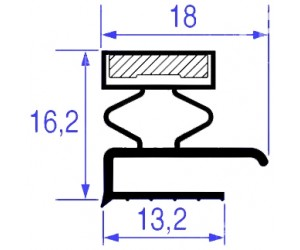 GUARNIZIONE MAGNETICA 605 x 375 MM. / MAGNETIC GASKET 605x375 MM - 8135